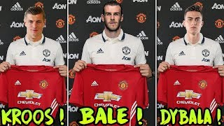 TRANSFER NEWS! TOP 10 Manchester United TRANSFER TARGETS (2018) ft Griezmann Kroos Dybala Bale
