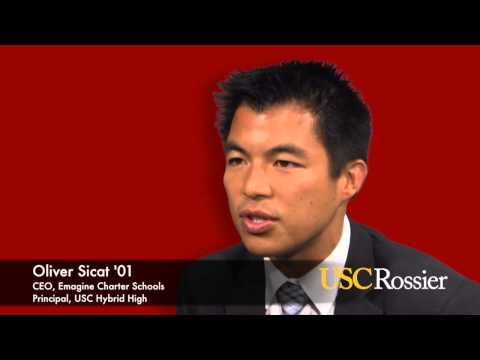 Oliver Sicat '01, CEO of Ednovate Charter Schools and Principal of USC Hybrid High School