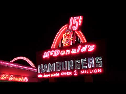Vintage Neon On The First McDonalds, Des Plaines Il.