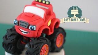 Blaze monster machines cake topper fondant tutorial for Blaze cartoni in italiano