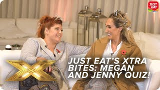 Megan McKenna takes on Jenny Ryan in 'Bread Sheeran' quiz! | Just Eat's Xtra Bites