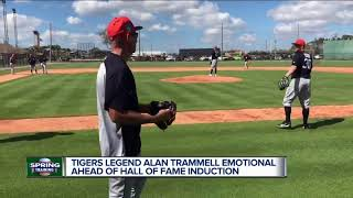 Tigers legend Alan Trammell emotional ahead of Hall of Fame induction