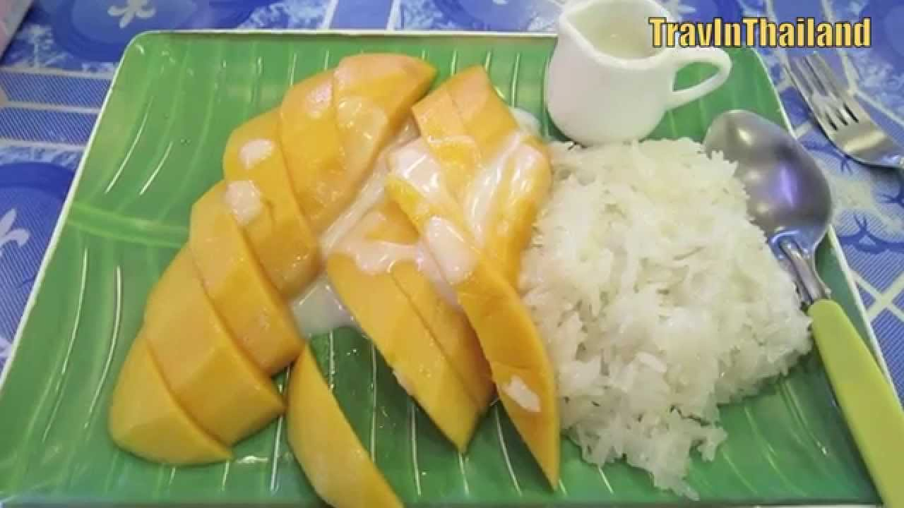 Thai Street Food Mango Sticky Rice Youtube