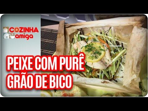 Papillote De Peixe Branco E Purê Grão De Bico - Chef Arthur Sauer| Cozinha Amiga (10/04/17)