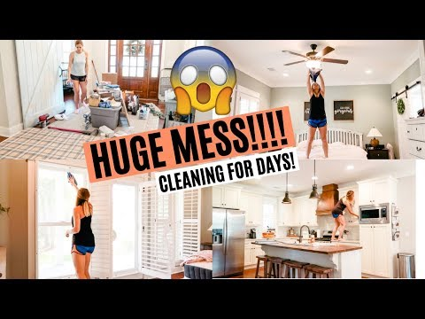 HUGE MESS! ULTIMATE CLEAN WITH ME 2019 // EXTREME CLEANING MOTIVATION // Amy Darley