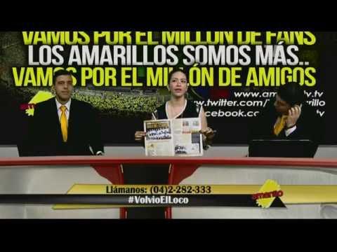 MARÍA CECILIA MORENO DE VISITA AMARILLO TV DE TELEVISIÓN SATELITAL