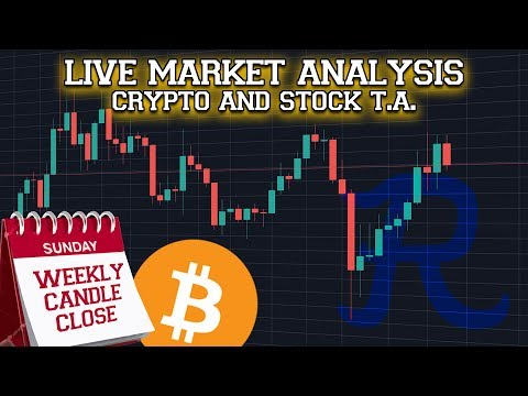 🔴 BITCOIN LIVE : BTC Weekly Candle Close Stream 🔴 Ep. 996 Crypto Technical Analysis
