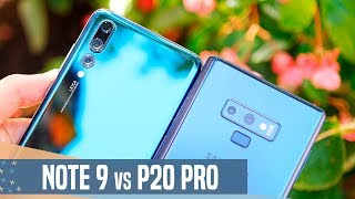 Samsung Galaxy Note 9 vs Huawei P20 Pro