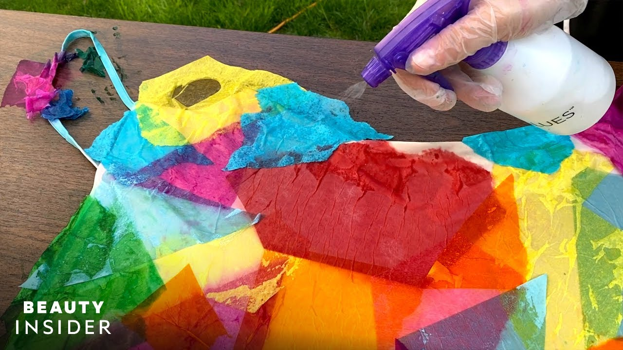 How To Custom-Dye Clothes With Tissue Paper