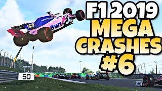 F1 2019 MEGA CRASHES #6