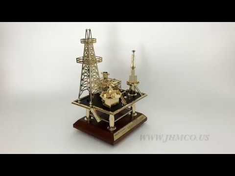 Offshore Oilfield Oil and Gas Platform Model JHM#51 Oilfield Gift Award