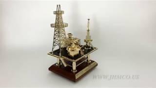 Offshore Oilfield Oil and Gas Platform Model JHM#51 Oilfield Gift Award