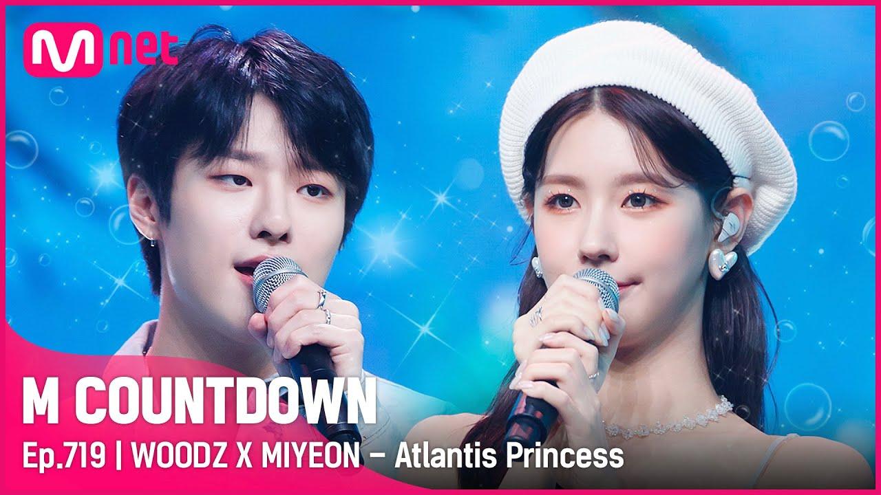 Download [WOODZ X MIYEON - Atlantis Princess] Summer Special Stage |  #엠카운트다운 EP.719 | Mnet 210729 방송