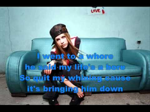 Avril Lavigne - Basket case + Lyrics (Green day cover)