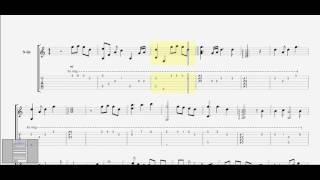 Thế giới ảo tình yêu thật (Trịnh Đình Quang) guitar solo tab by D U Y