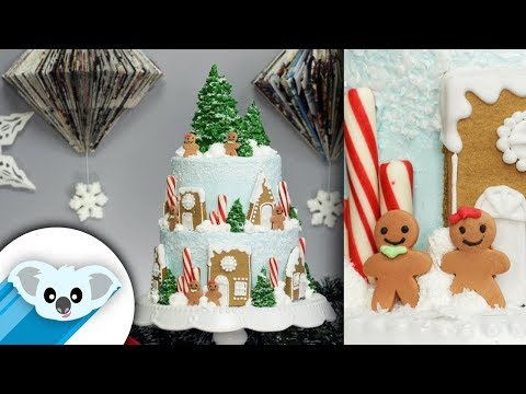 Gingerbread Village Cake | Christmas | DIY & How to | Gingerbread House Kit