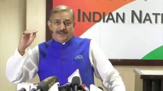 Pramod Tiwari addresses media on Modis Speech in Azamgarh