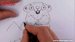 How to draw a Cute Cartoon Marmot - Spoken Tutorial