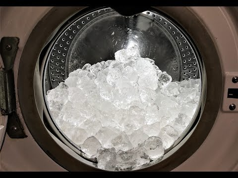 Experiment - 10 kg Ice - in a Washing Machine - Centrifuge