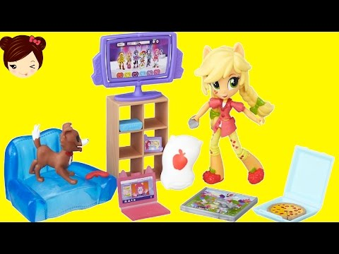 MLP Equestria Minis - Apple Jack Pijamada Set + Rainbow Dash - My Little Pony Juguetes