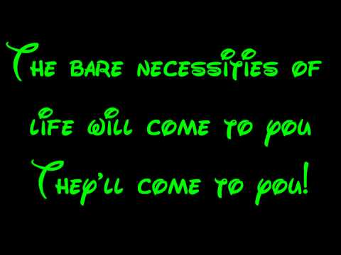 Bare Necessities - The Jungle Book Lyrics HD