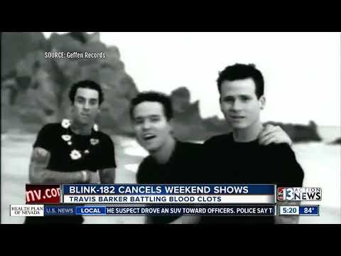 Blood clots force Travis Barker to cancel blink-182 shows Mp3