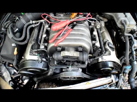 crashed audi  engine running   radiator