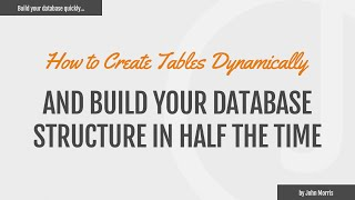 How to Create Database Tables Dynamically Using PHP