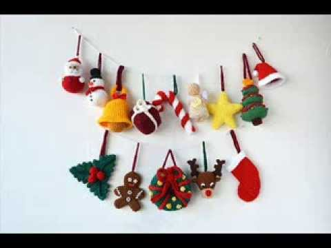 14 Christmas Ornaments - Crochet Christmas Decorations - Pattern ...