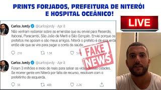 PRINTS FORJADOS, PREFEITURA DE NITERÓI E HOSPITAL OCEÂNICO!