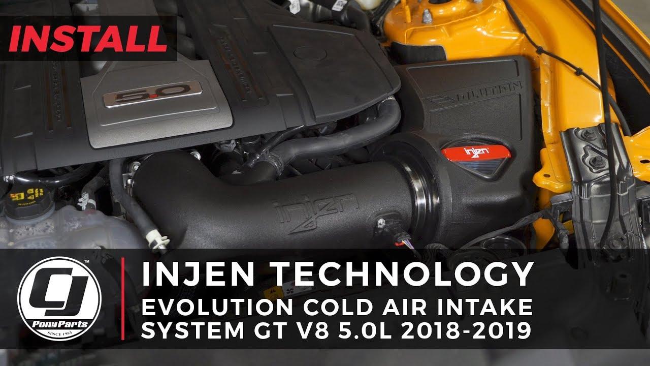medium resolution of 2018 2019 mustang install injen evolution cold air intake systeminjen focus fuse box cover 19