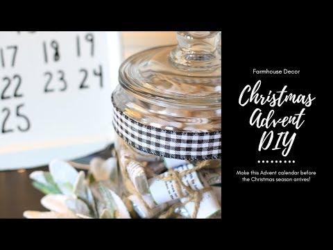 FARMHOUSE CHRISTMAS ADVENT CALENDAR DIY CRAFT   Christmas DIY