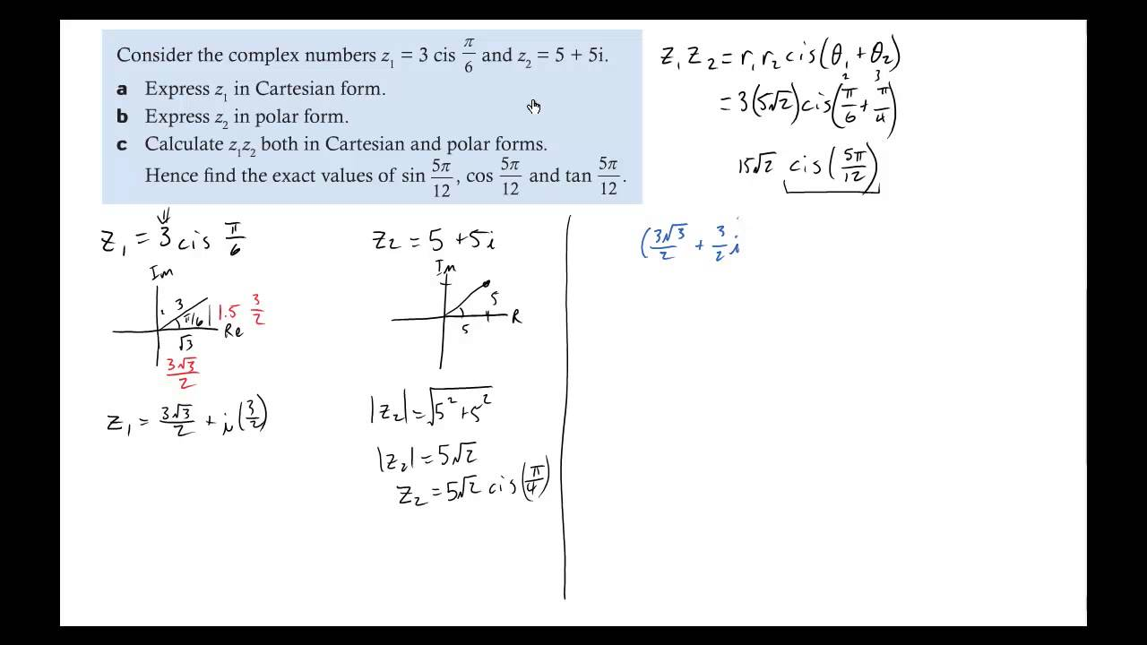 Worksheets Dividing Complex Numbers Worksheet examples of multiplying and dividing complex vectors in polar form youtube