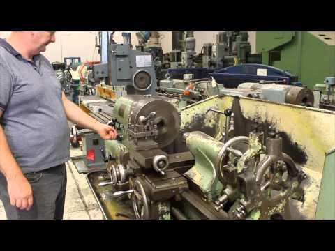 Colchester Triumph centre lathe - YouTube
