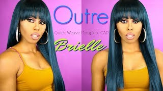 HOW to STYLE & STRAIGHTEN Your Synthetic Unit! Outre Quick Weave Complete Cap Brielle ❤️SamsBeauty