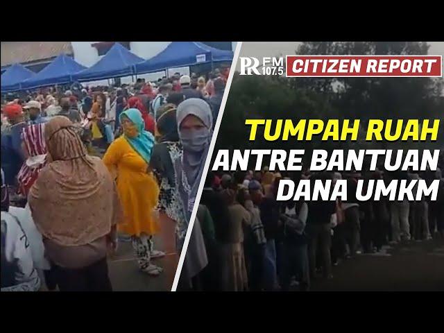 Masyarakat Tumpah Ruah Antre Pendaftaran Bantuan Dana UMKM Kota Bandung