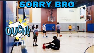 DARION ALMOST BREAKS DAMIEN'S ANKLE ON THE BASKETBALL COURT