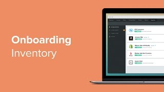 Onboarding - inventory