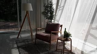 수입 북유럽 덴마크 스칸디나비안 원목 패브릭 의자 가구…