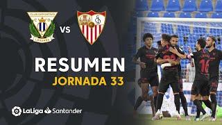 Resumen de CD Leganés vs Sevilla FC (0-3)