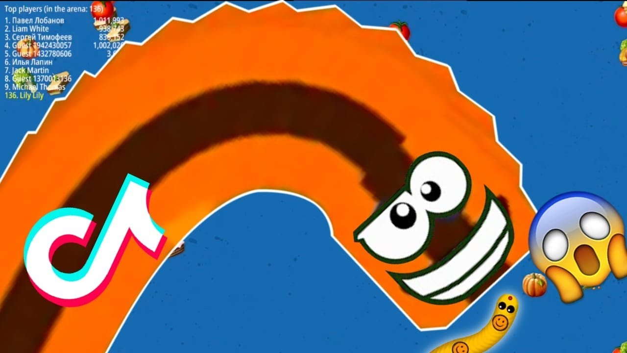 WormsZone.io 001 Strong Pro Skill Slither Snake TOP 01 Epic Worms Zone io Gameplay Funny/Best