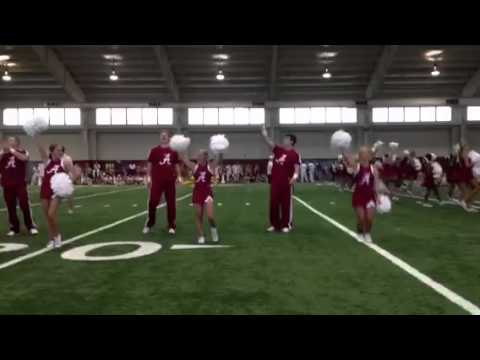 Aaron University of Alabama Cheer camp 1st Fightsong 2012