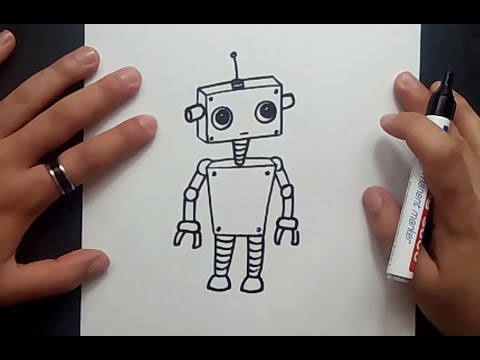 Como dibujar un robot paso a paso 5  How to draw a robot 5  YouTube