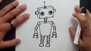 Como dibujar un robot paso a paso 5 | How to draw a robot 5