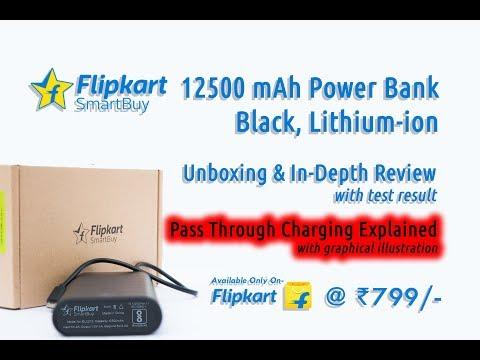 Flipkart SmartBuy 12500 mAh Power Bank Unboxing and In Depth Review