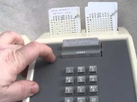 1966 Western Electric Automatic Card Dialer Phone Youtube