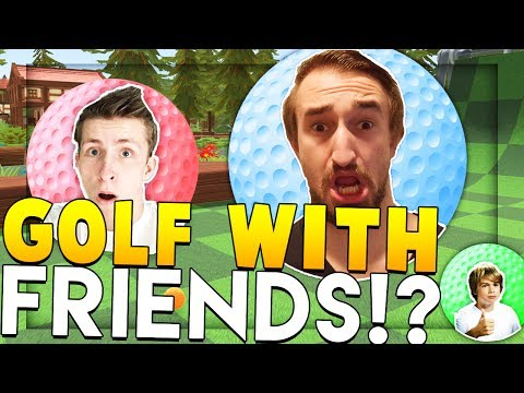 THE DINO WORLD GOLF GAME!? - GOLF WITH FRIENDS!