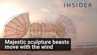 Theo Jansen's Strandbeest wind sculptures