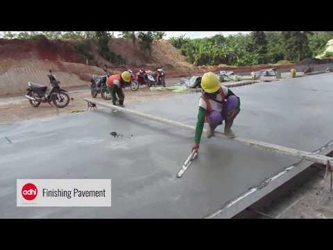 Pelaksanaan Rigid Menggunakan Power Paver di Proyek Tol Trans Sumatera
