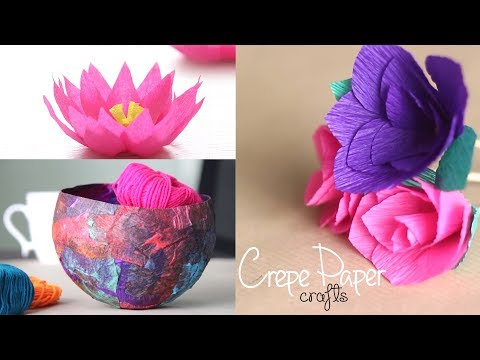 3 Easy Crepe Paper Crafts